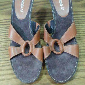 Aerosoles Women's Brown Leather Uppers Slip On